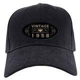 60th birthday 1958 Baseball Cap with Patch