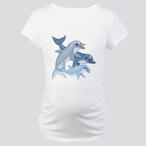 Dolphin Family Maternity T-Shirt