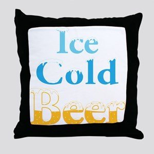Ice Cold Beer Throw Pillow