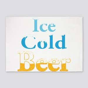 Ice Cold Beer 5'x7'Area Rug
