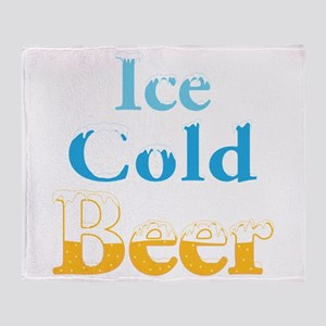Ice Cold Beer Throw Blanket