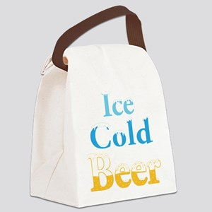 Ice Cold Beer Canvas Lunch Bag