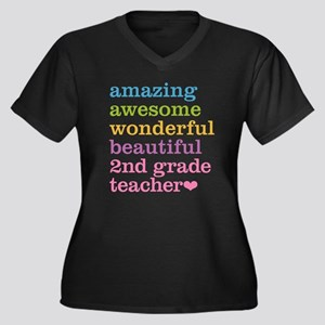 Amazing 2nd Grade Teacher Plus Size T-Shirt