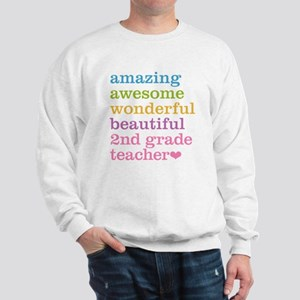 Amazing 2nd Grade Teacher Sweatshirt