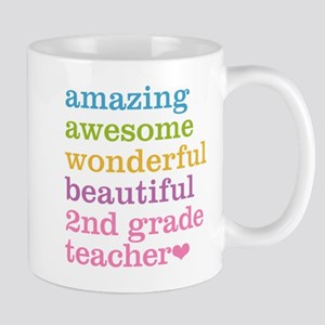 Amazing 2nd Grade Teacher Mugs
