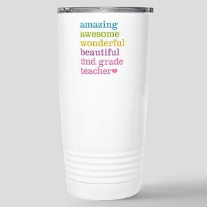 Amazing 2nd Grade Teach Stainless Steel Travel Mug
