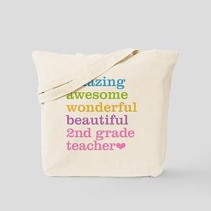 Amazing 2nd Grade Teacher Tote Bag