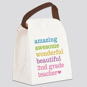 Amazing 2nd Grade Teacher Canvas Lunch Bag