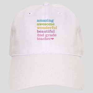 Amazing 2nd Grade Teacher Cap
