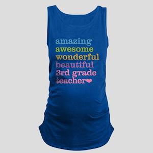 Amazing 3rd Grade Teacher Maternity Tank Top