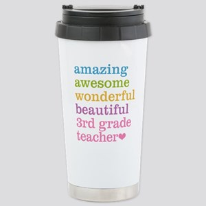 Amazing 3rd Grade Teach Stainless Steel Travel Mug