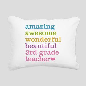 Amazing 3rd Grade Teache Rectangular Canvas Pillow