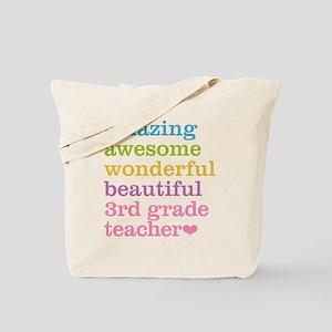 Amazing 3rd Grade Teacher Tote Bag