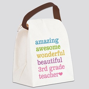 Amazing 3rd Grade Teacher Canvas Lunch Bag
