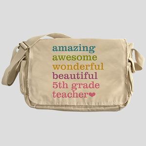 Amazing 5th Grade Teacher Messenger Bag