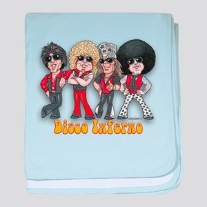Disco Inferno Cartoon 1 baby blanket