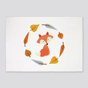 Sweet Autumn Fox 5'x7'Area Rug