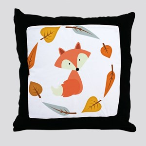 Sweet Autumn Fox Throw Pillow