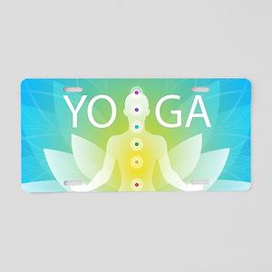 Yoga Chakra Activation Aluminum License Plate