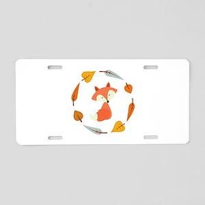 Sweet Autumn Fox Aluminum License Plate