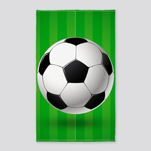 Football Ball And Field Area Rug
