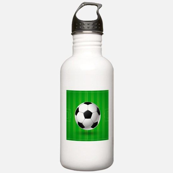 Football Ball And Field Sports Water Bottle