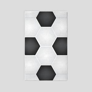 Football Ball Texture Area Rug