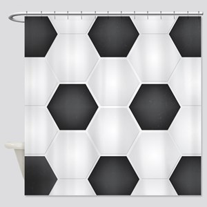 Football Ball Texture Shower Curtain
