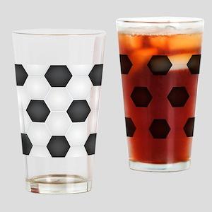 Football Ball Texture Drinking Glass