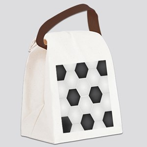 Football Ball Texture Canvas Lunch Bag