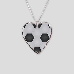 Football Ball Texture Necklace Heart Charm