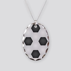 Football Ball Texture Necklace Oval Charm