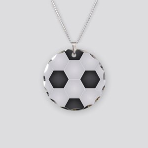 Football Ball Texture Necklace Circle Charm