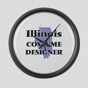 Illinois Costume Designer Large Wall Clock