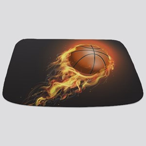 Flaming Basketball Bathmat