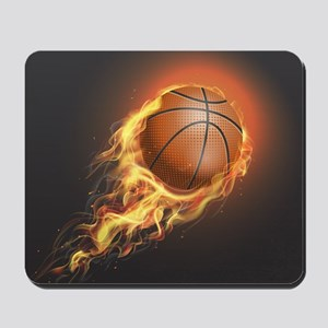 Flaming Basketball Mousepad