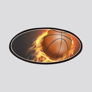 Flaming Basketball Patch