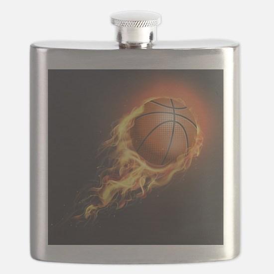 Flaming Basketball Flask