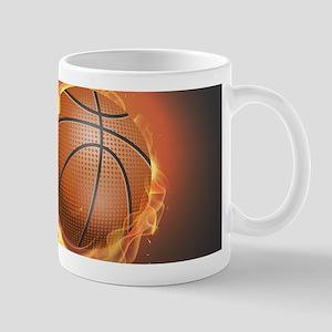 Flaming Basketball Mugs