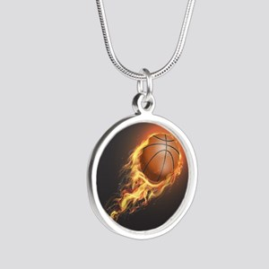 Flaming Basketball Necklaces