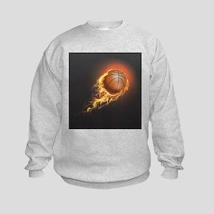 Flaming Basketball Sweatshirt