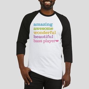 Amazing Bass Player Baseball Jersey