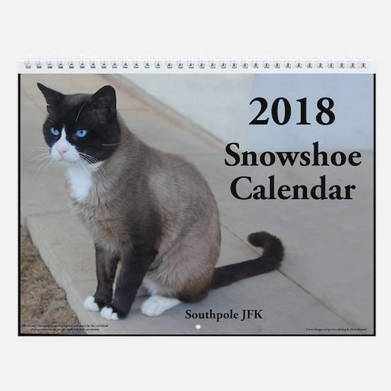 Snowshoe Cats 2018 Wall Calendar