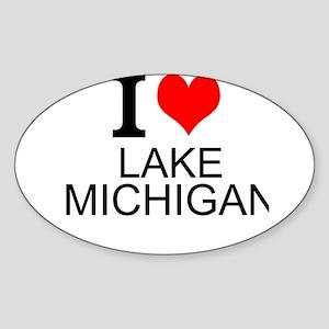 I Love Lake Michigan Sticker