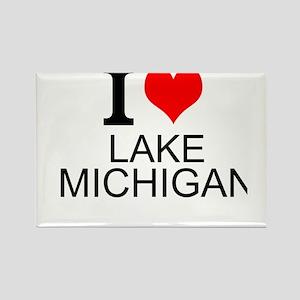 I Love Lake Michigan Magnets