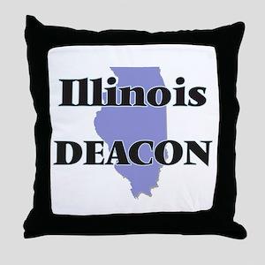 Illinois Deacon Throw Pillow