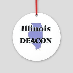 Illinois Deacon Round Ornament