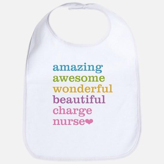 Amazing Charge Nurse Bib