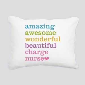 Amazing Charge Nurse Rectangular Canvas Pillow
