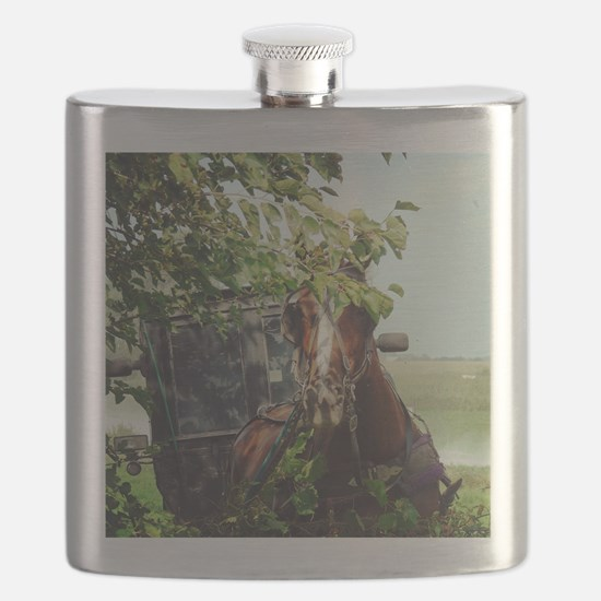 Funny Amish Flask